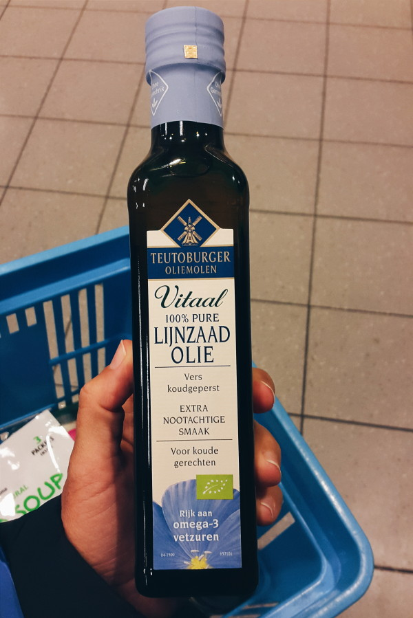 flaxseed oil for the japanse tofu salad