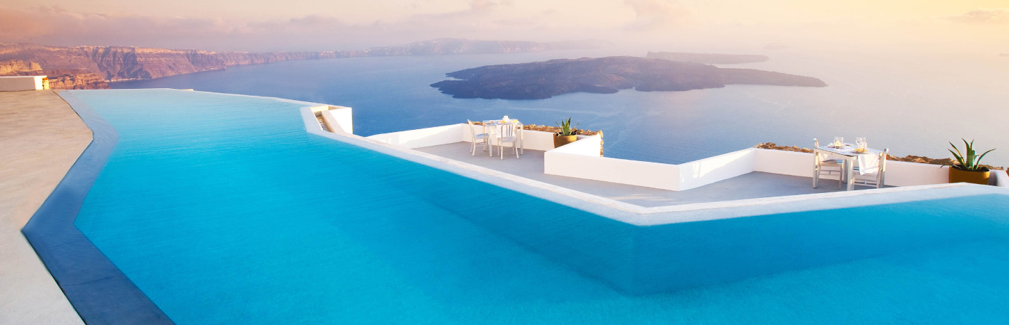 The most beautiful honeymoon suites in the world - Santorini infinity pool ...