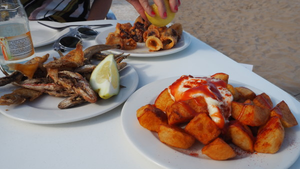 Tapas at the beach