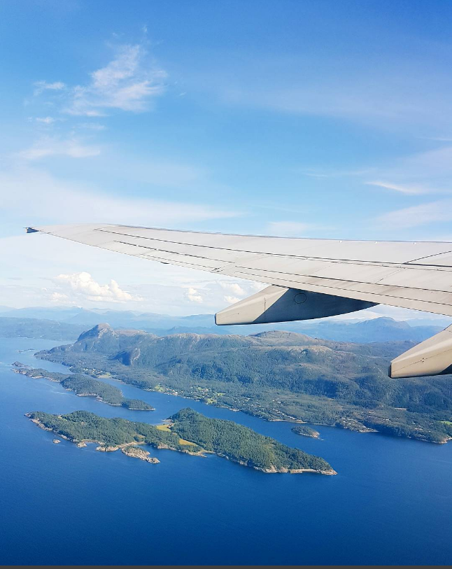Flying home from North West Norway
