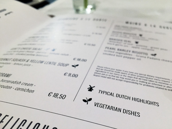 Menu Restaurant Stripes