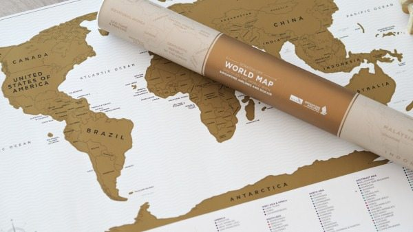 World Scratch Map Wanderlust Christmas gifts